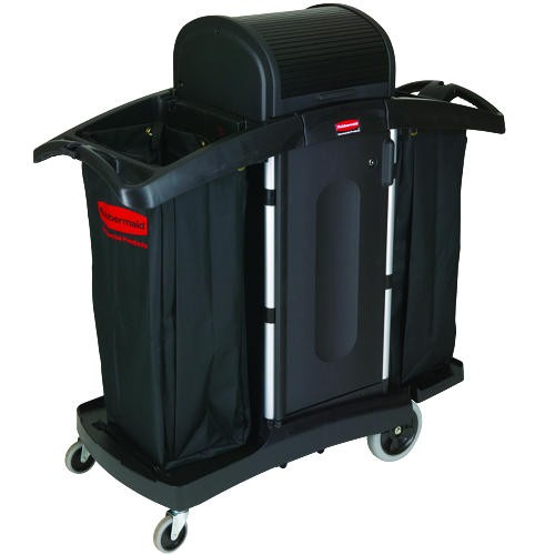 High Security Housekeeping Cart, Black
