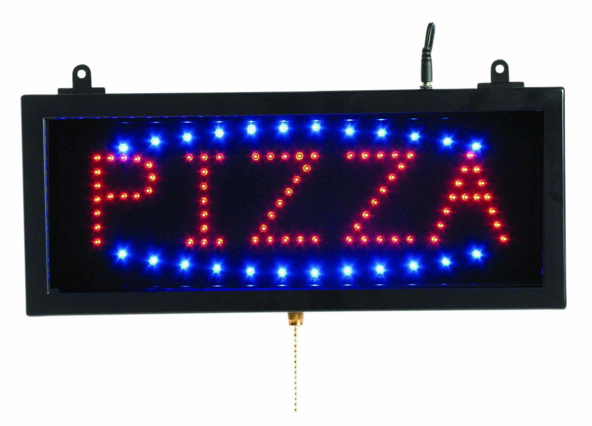 "Aarco Products PIZ01S High Visibility Small LED Pizza Sign, 16-1/8""W x 6-3/4""H"