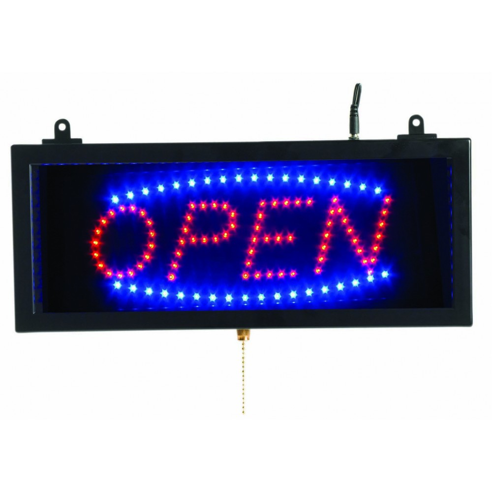 "Aarco Products OPE02S High Visibility Small LED Open Sign, 6-3/4""H x 16-1/8""W"