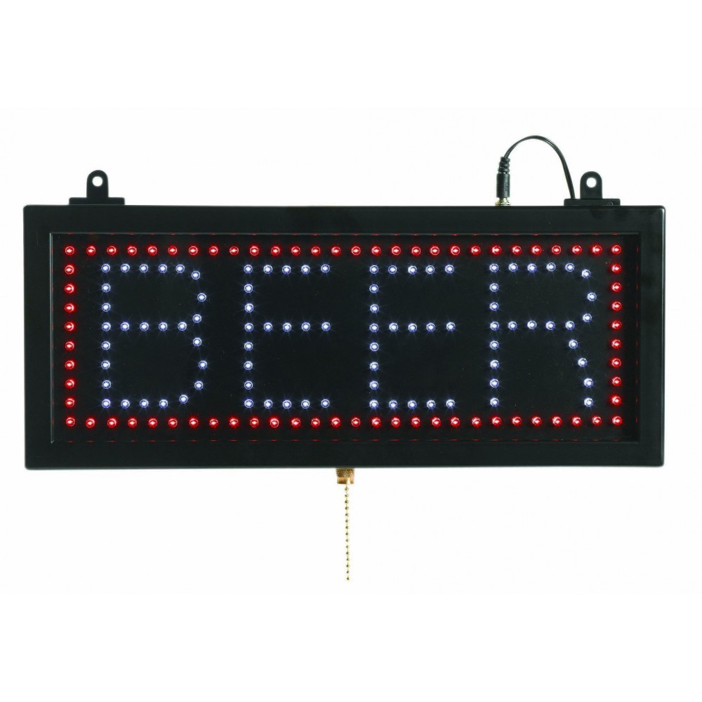 "Aarco Products BEE06S High Visibility LED Beer Sign, 6-3/4""H x 16-1/8""W"