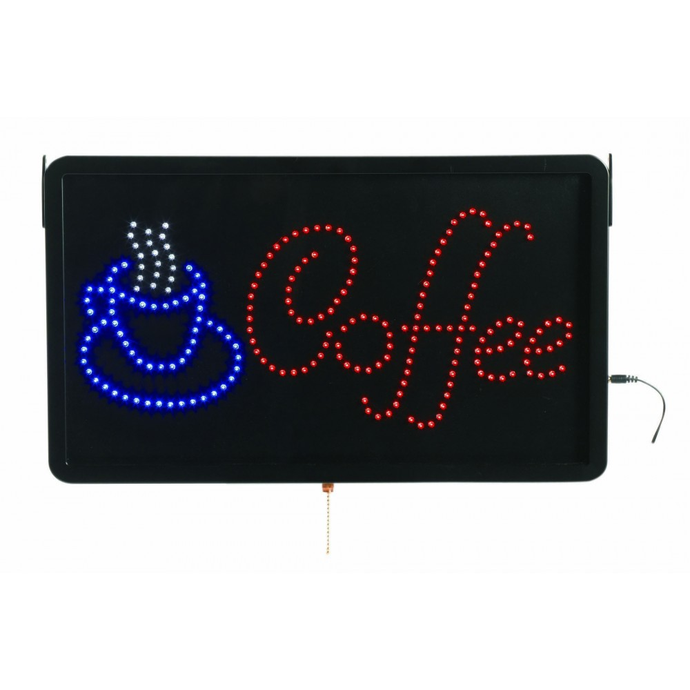 "Aarco Products COF03L High Visibility LED Coffee Sign 13""H x 22""W"