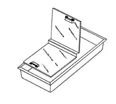 Franklin Machine Products  124-1232 Ice Cream Cabinet Lid Hinge Strip 12