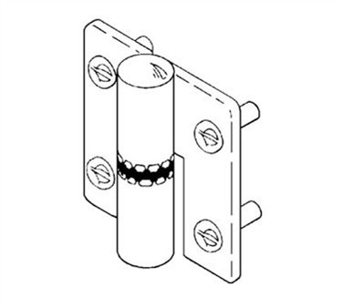 Franklin Machine Products  141-1102 Hinge, Stall (Top & Btm )