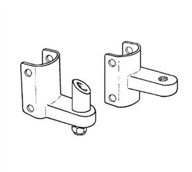 Franklin Machine Products  141-1158 Hinge Set (Btm/Top Stall Door )