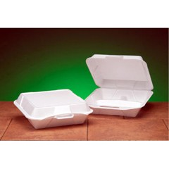 Hinged, White Foam Container- Jumbo Size
