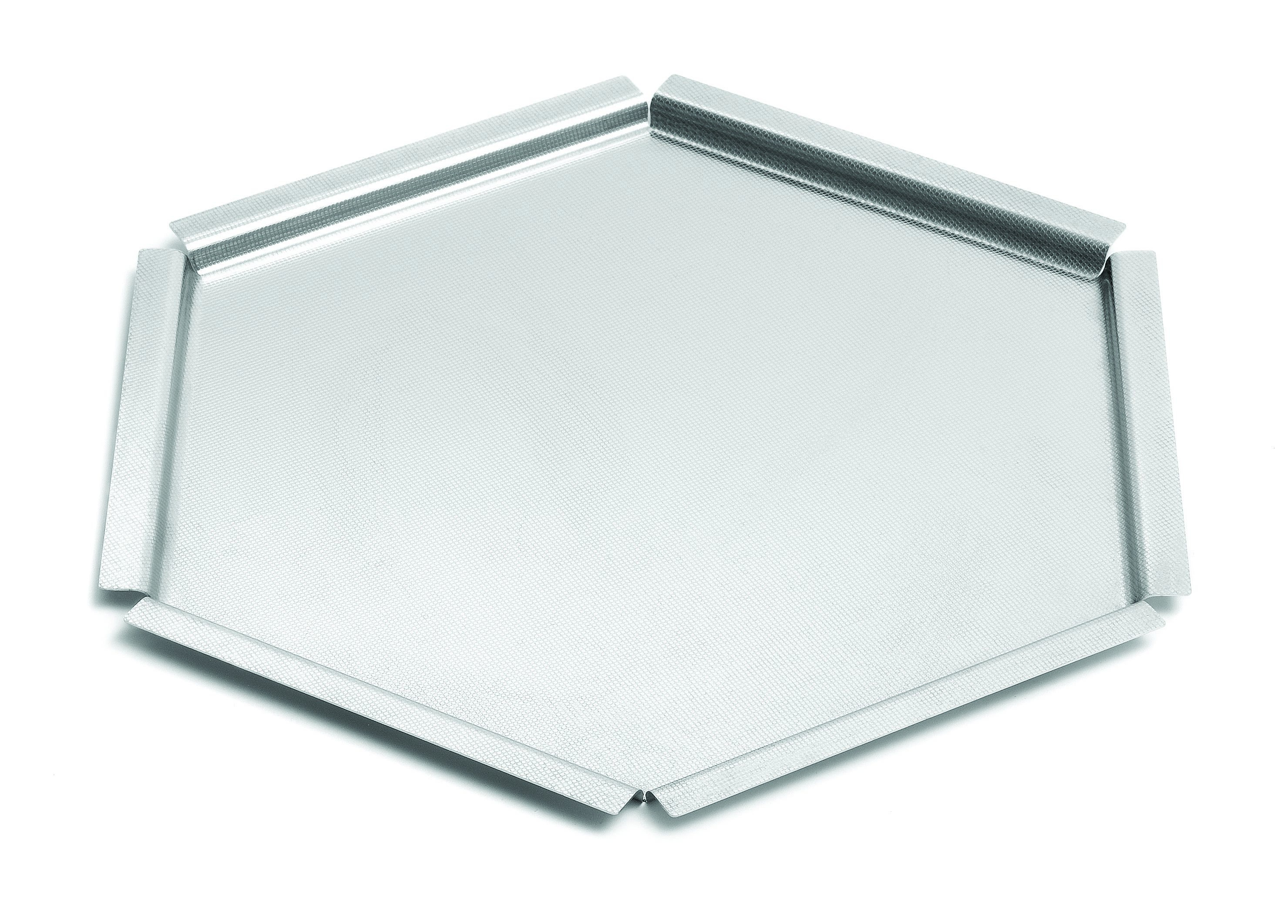 "Rosseto SM119 Honeycomb™ Small Textured Stainless Steel Tray Surface 14"" c 14"" x 1.5""H"