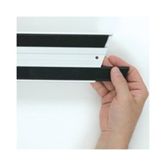 Hook & Loop Replacement Strips, 1 1/10w x 18l, Black