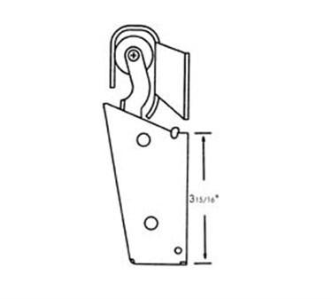 Franklin Machine Products  124-1302 Hook, Door Closer (1-1/8Offset )