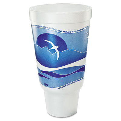 Dart Horizon Hot/Cold Foam Cup 44 oz., Ocean Blue/White, 300/Carton