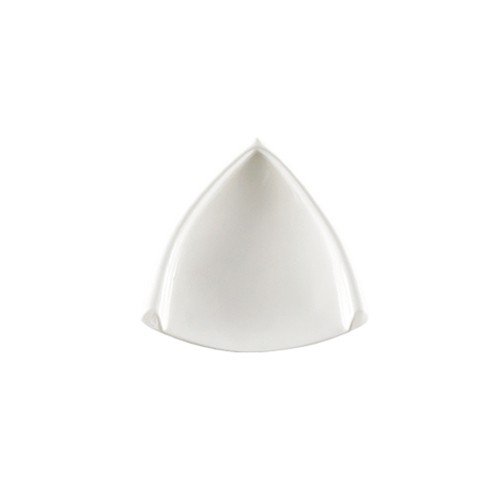 CAC China TB-H6 Triangle Horn Edge 6 oz. Dish, 6 1/4""