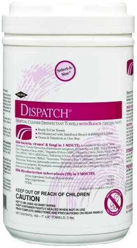 Hospital Cleaner Disinfectant Towels with Bleach, Resealable Soft Pack, 60/Pack