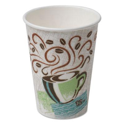 Hot Cups, Paper, 12oz, Coffee Dreams Design, 500/Carton