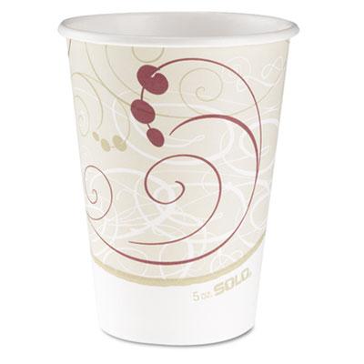 Hot Cups, Symphony Design, 12oz, Beige, 50/Pack