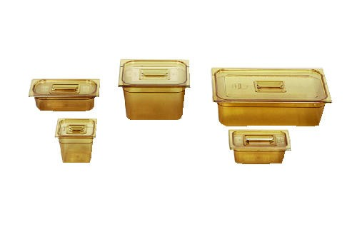 Hot Food Pans, 2 1/2qt, 6 3/8w x 6 7/8d x 6h, Amber