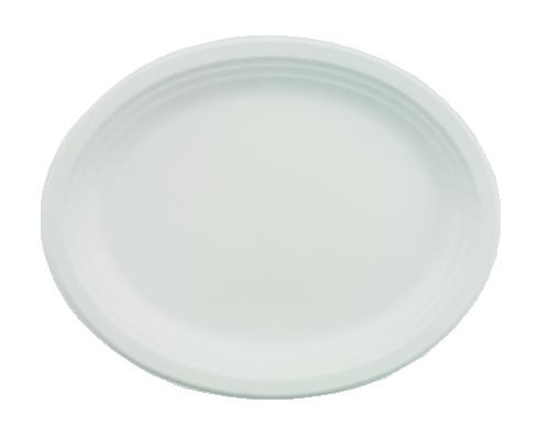 Huhtamaki Chinet Classic White Premium Strength Oval Platter 12x9 (Box of 500)