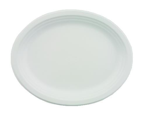 Huhtamaki Chinet Classic White Premium Strength Oval Platter 12x9 (Box of 500)