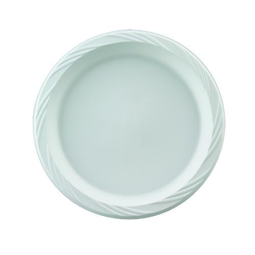 "Chinet Popular Choice 9"" White Plastic Plates (Box of 500)"
