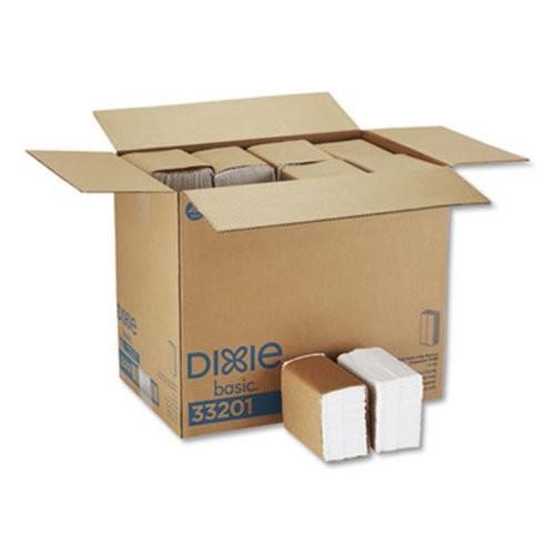 HyNap Tall Fold 1-Ply Dispenser Napkins, White, 10,000/Carton