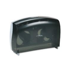 IN-SIGHT JRT Combo Tissue Dispenser, 20-2/5w x 5-4/5d x 13-1/8h, Smoke/Gray