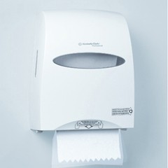 IN-SIGHT SANITOUCH Hard Roll Towel Dispenser, 12 3/5x10 1/5x16 1/10, Pearl White