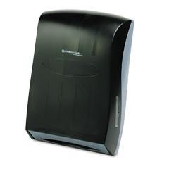 "Universal Folded Towel Dispenser, Smoke/Gray, 13-3/10"" x 5-9/10"" x 18-9/10"""