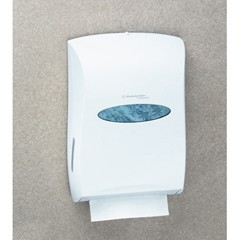 "Universal Folded Towel Dispenser, White, 13-3/10"" x 5-9/10"" x 18-9/10"""