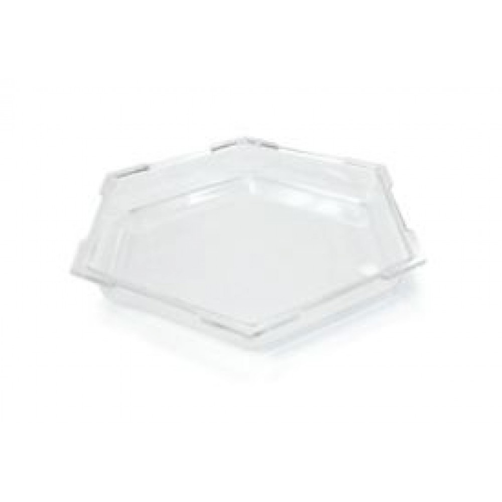 "Rosseto SA100 Honeycomb™ Small Clear Acrylic Ice Bath Cooler 14"" x 14"" x 1.5""H"