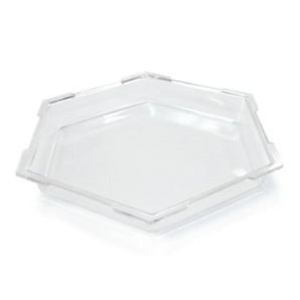 "Rosseto SA101 Honeycomb™ Medium Clear Acrylic Ice Bath Cooler 16"" x 16"" x 2""H"
