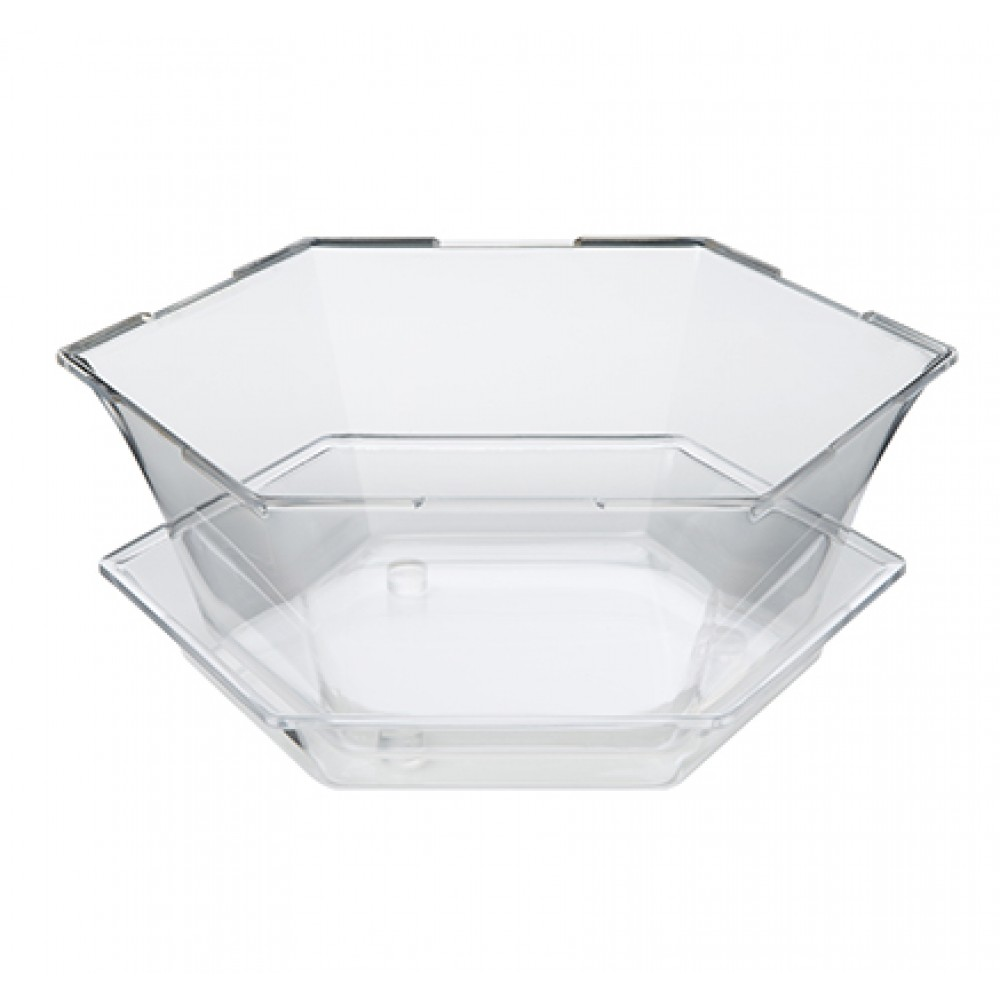 "Rosseto SA121 Honeycomb™ 16"" Deep Medium Clear Acrylic Ice Tub 15.65"" x 13.75"" x 6.18""H"