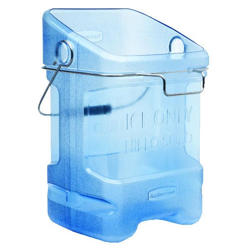 Ice Tote with Bin Hook Adapter, Translucent Blue