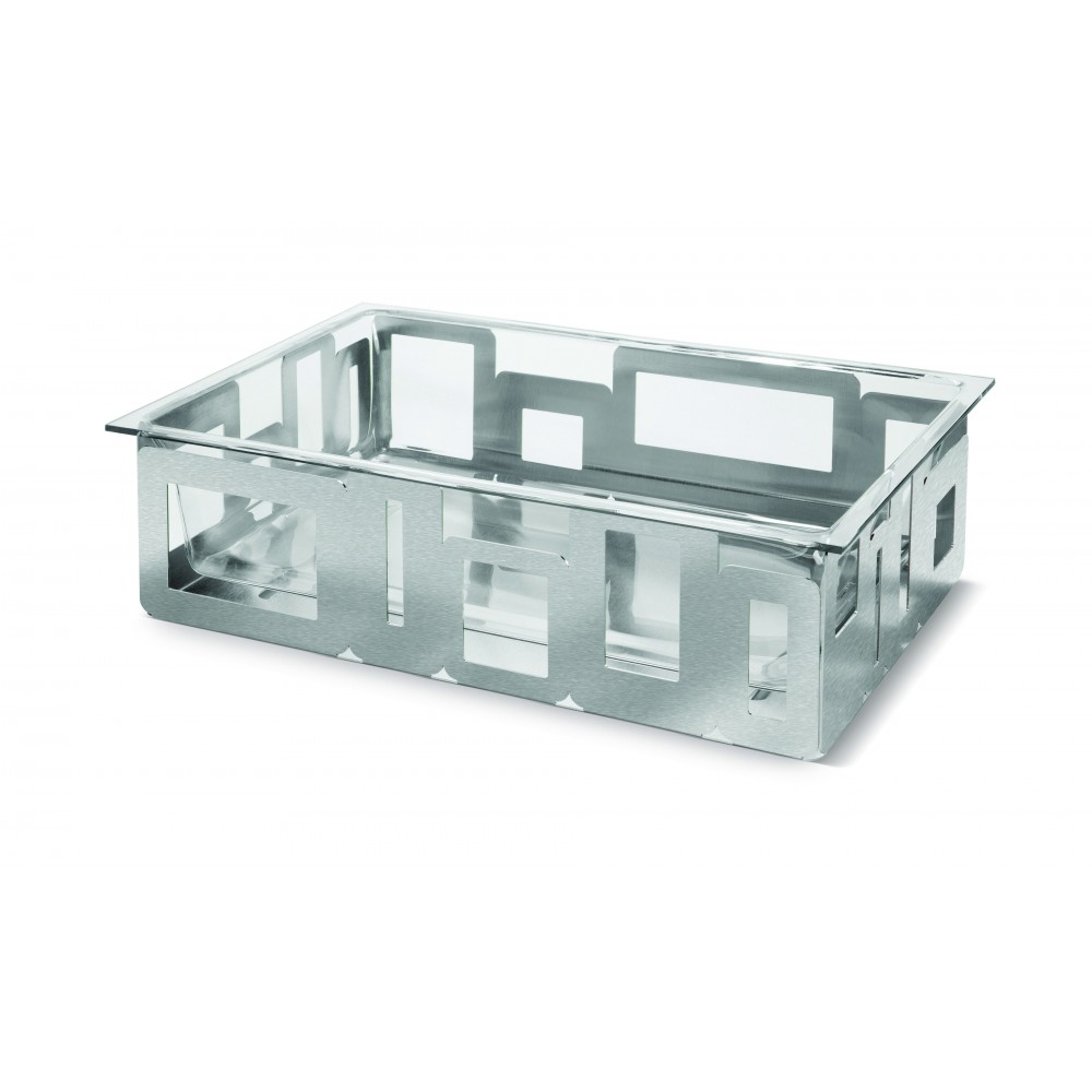 "Rosseto D62577C Large Rectangular Stainless Steel Ice Tub With Acrylic Insert 13"" x 21"" x 6""H"