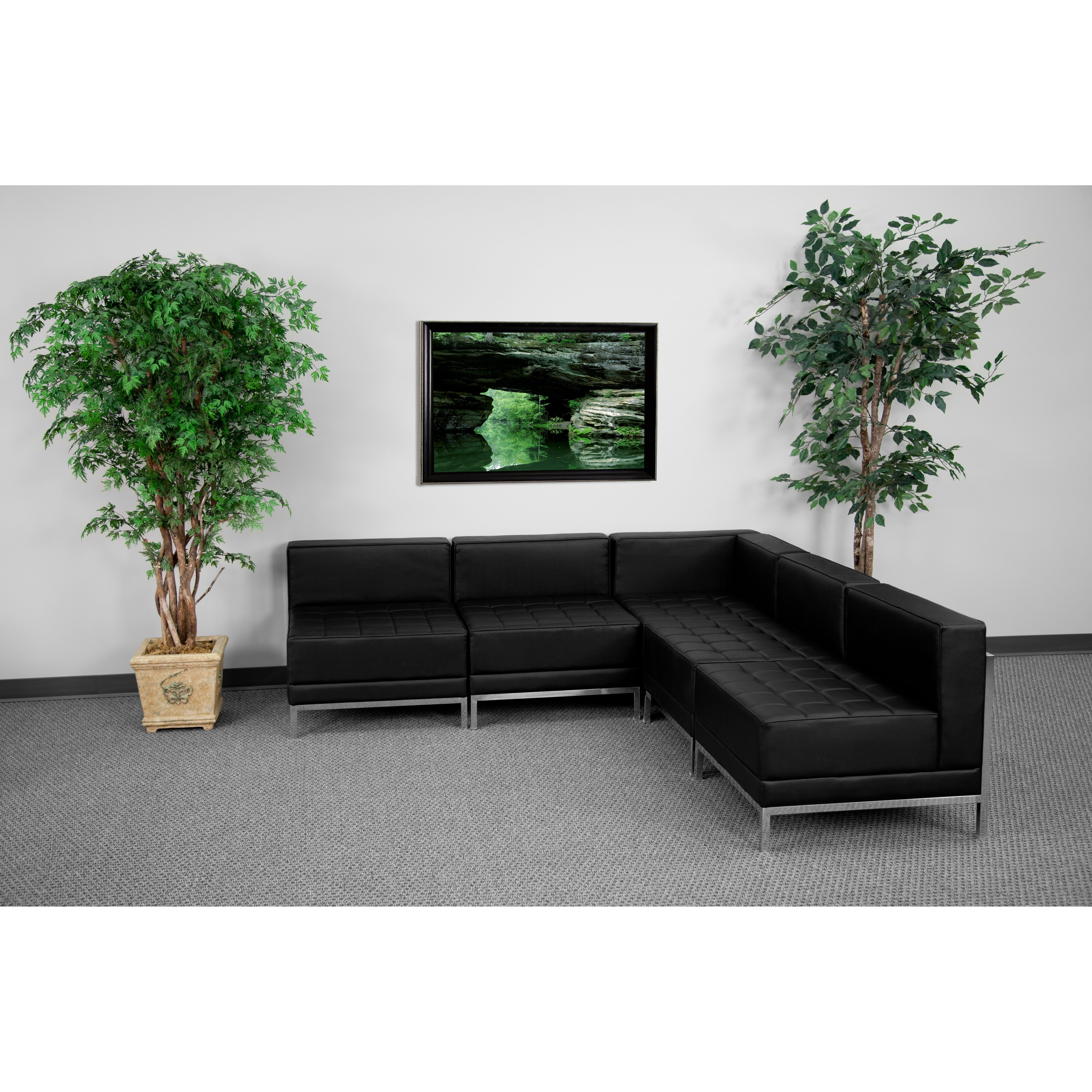 Flash Furniture ZB-IMAG-SECT-SET5-GG Imagination Series Sectional Configuration