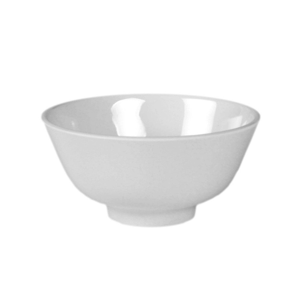 "Thunder Group 3006TW Imperial Melamine Rice Bowl, 8 oz., 4-3/8"" Dia."
