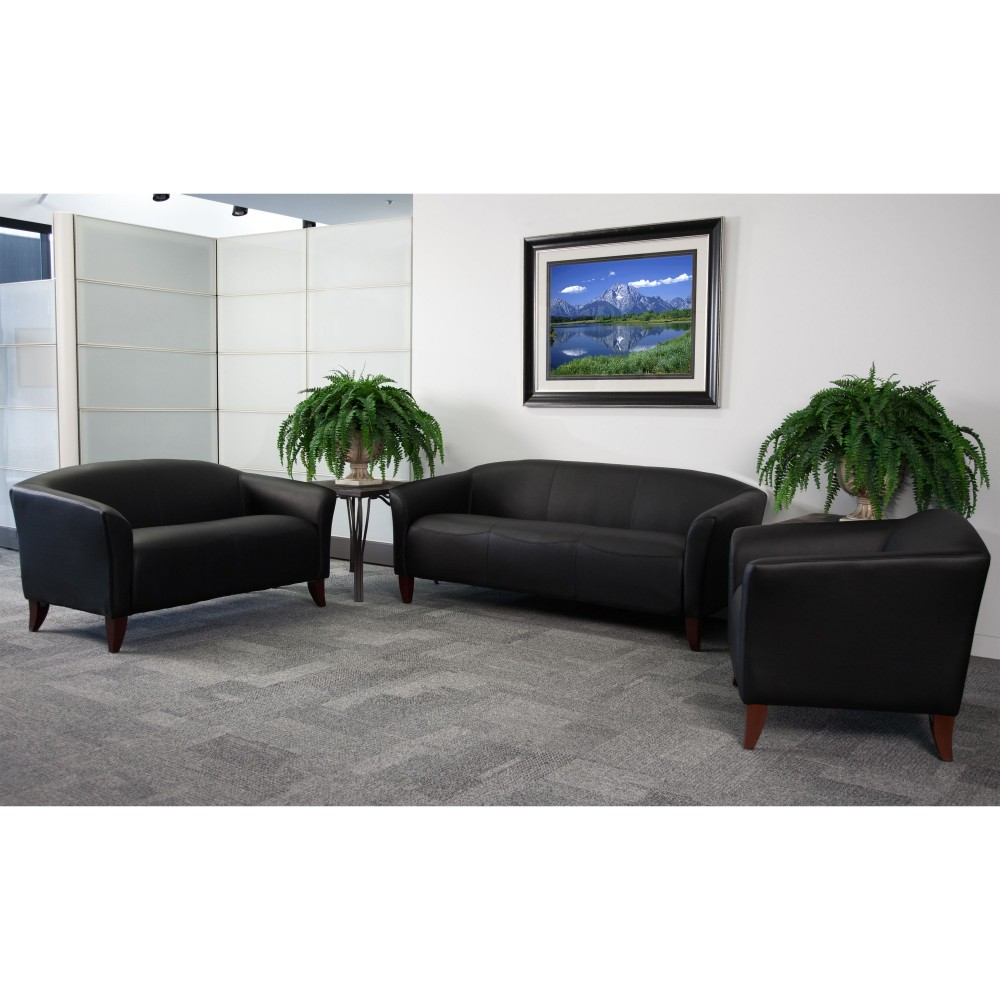 Flash Furniture 111-SET-BK-GG Imperial Series Reception Set in Black