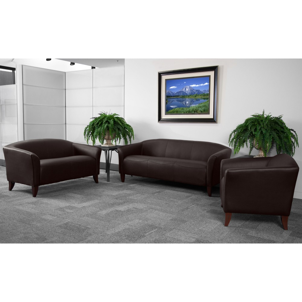 Flash Furniture 111-SET-BN-GG Imperial Series Reception Set in Brown