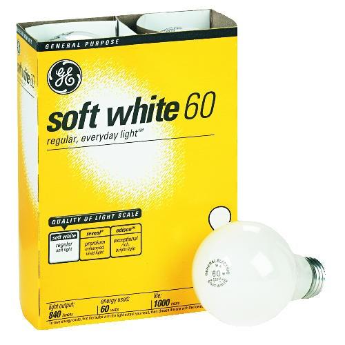 Incandescent Light Bulb, 60 Watt