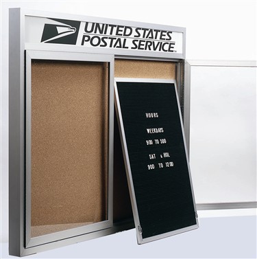 "Aarco Products RR3624F Indoor Removable Felt Letter Panel for Enclosed Bulletin Board 36""H x 24"""