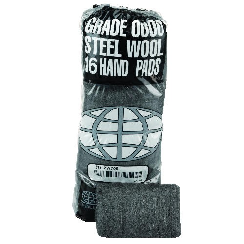 Industrial-Quality Steel Wool Hand Pad, Medium Coarse