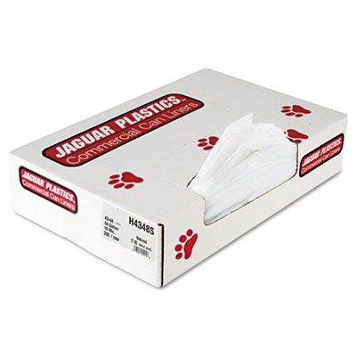 Industrial Strength Commercial Can Liners Flat Pack, 56 gal, 16 microns, 43