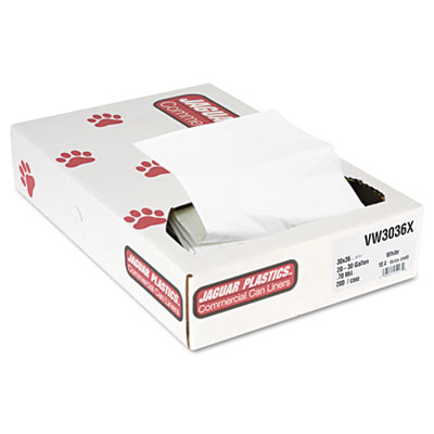 Industrial Strength Low-Density Commercial Can Liners, 30 gal, 0.7 mil, 30