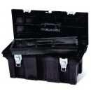 Industrial Tool Box, 26 X 11.5 X 11.13, Black