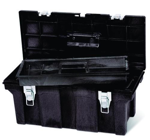 Industrial Tool Box, 26 X 11.5 X 11.13, Black