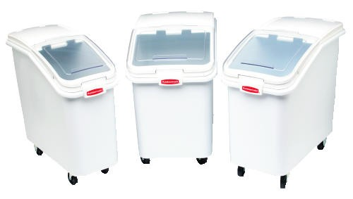 Ingredient Bin with Slanted Lid, 4-1/8 Cubic Ft, White