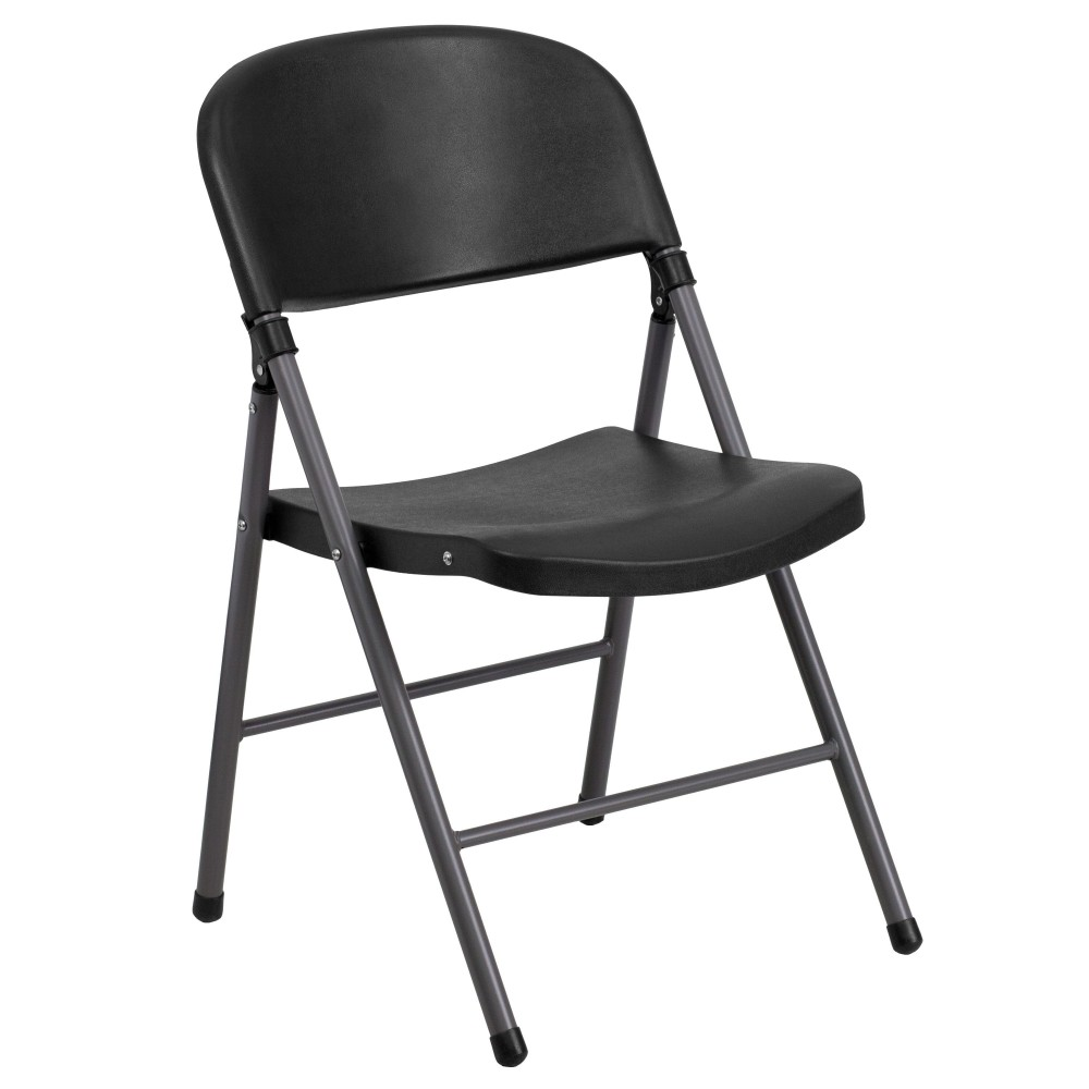 Injection Molded Black Plastic Folding Chair