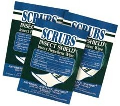Insect Shield Insect Rellant Wipes 100/Cs