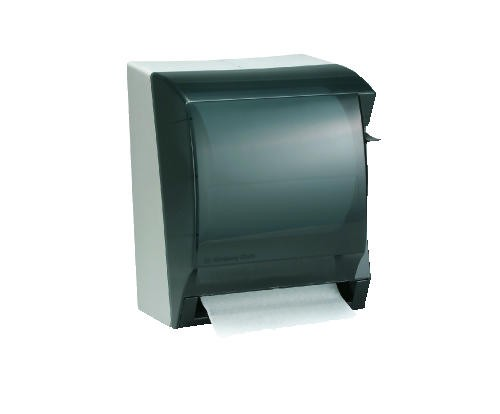 Insight LEV-R-MATIC Roll Towel Dispenser, Smoke Gray, 10.875 X 13.875 X 9.875