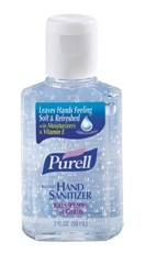 Instant Hand Sanitizer Personal Squeeze Bottle, 2 oz, Clear