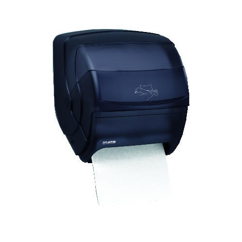 InteGra Lever Roll Hand Towel Dispenser, Plastic Black Pearl
