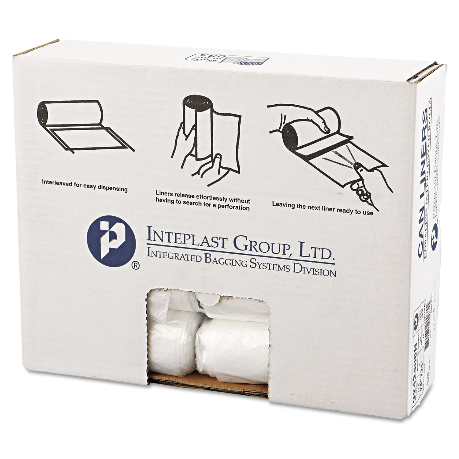 High-Density Commercial Can Liners, 10 gal, 6 microns, 24