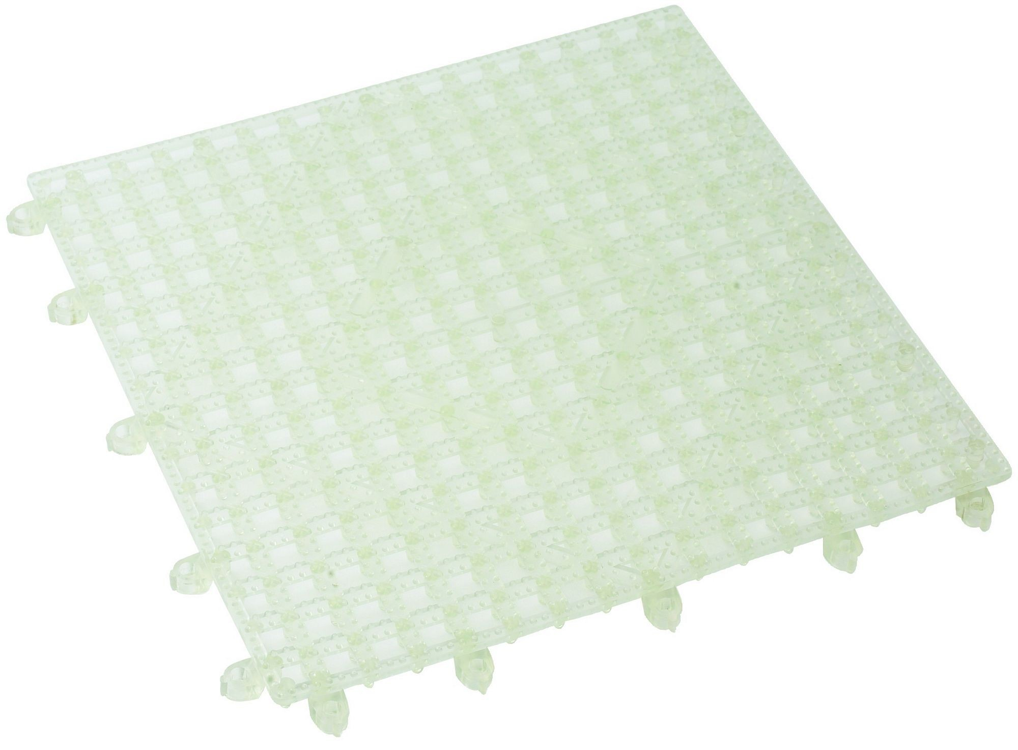 "Winco BML-12C Clear Interlocking Bar Mat 12"" x 12"""